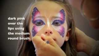 Repeat youtube video Easy Butterfly FACE PAINTING - MAQUILLAGE POUR ENFANTS