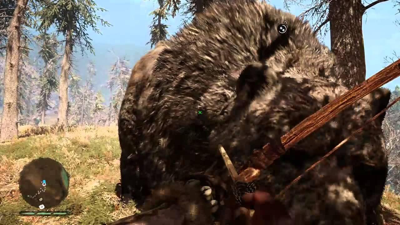 Far Cry Primal Cave Bear Vs Mammoths Youtube