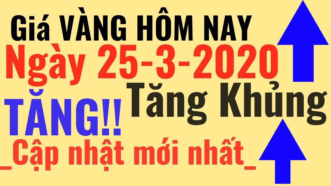 Giá VÀNG ngày Hôm Nay 25/3 Tăng Khủng Vàng Bảo Tín Minh Châu SJC Ý Mi Hồng 9999 online trực tuyến