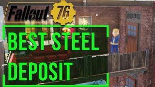 Fallout 76 - Best Steel Deposit Location (Settlement Mining Design)