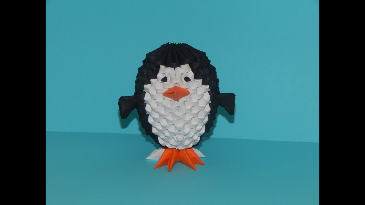 How to make 3D Origami Penguin (small) - YouTube - photo#3