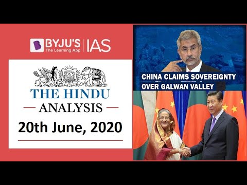 'The Hindu' Analysis for 20th June, 2020. (Current Affairs for UPSC/IAS)