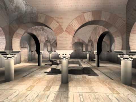 Visita virtual a los Baños Arabes de Jaén. Reconstrucción ...