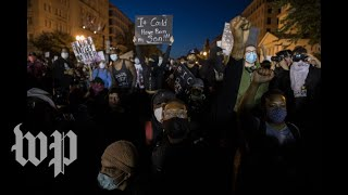 Protestors and police clash in front of White House