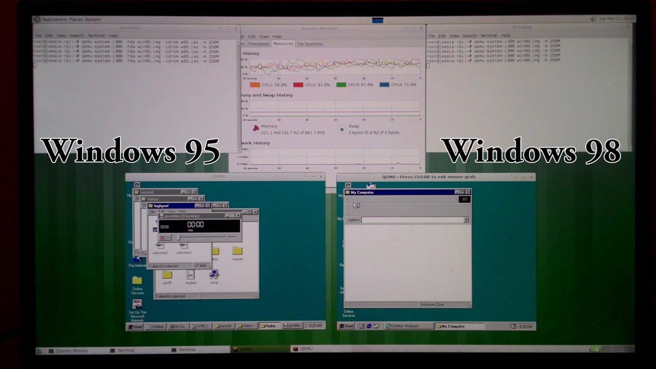 Windows 95 and 98 on Raspberry Pi 2