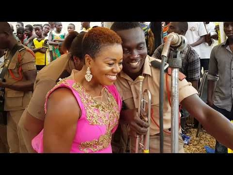 Piesie Esther performs at wedding reception