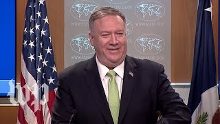 Watch live: Pompeo holds a news conference