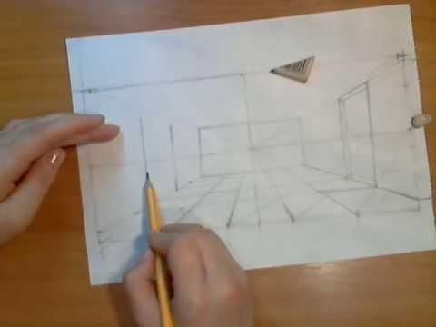 Как нарисовать внутри избы