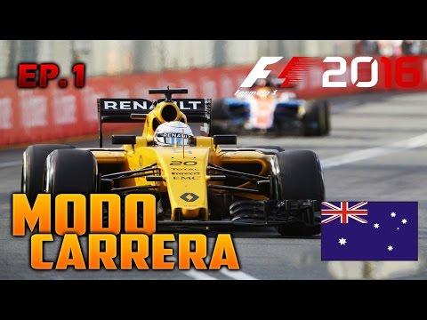 "F1 2016 PS4   ""El nuevo juan pablo Montoya""   Modo Carrera / Renault Sports   Australia / ep.1"