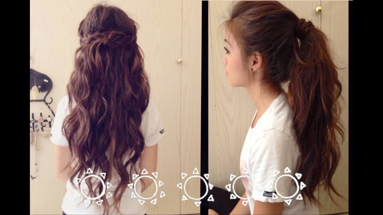 school fast and easy hairstyles