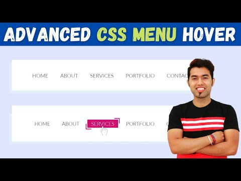 Advanced CSS Menu Hover Effect With Free Code in 2021