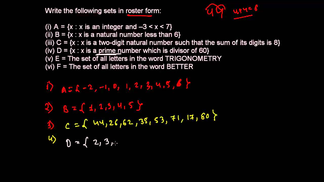 How to Write Sets into Roster Form - Set Theory 6 - YouTube