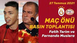 📺 Teknik Direktörümüz Fatih Terim ve kaptan Fernando Musleranın, PSV maçı öncesi basın toplantısı