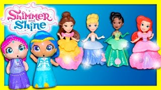 SHIMMER AND SHINE Nickelodeon Disney Princess Surprise Dresses a Funny Kids Toys Video