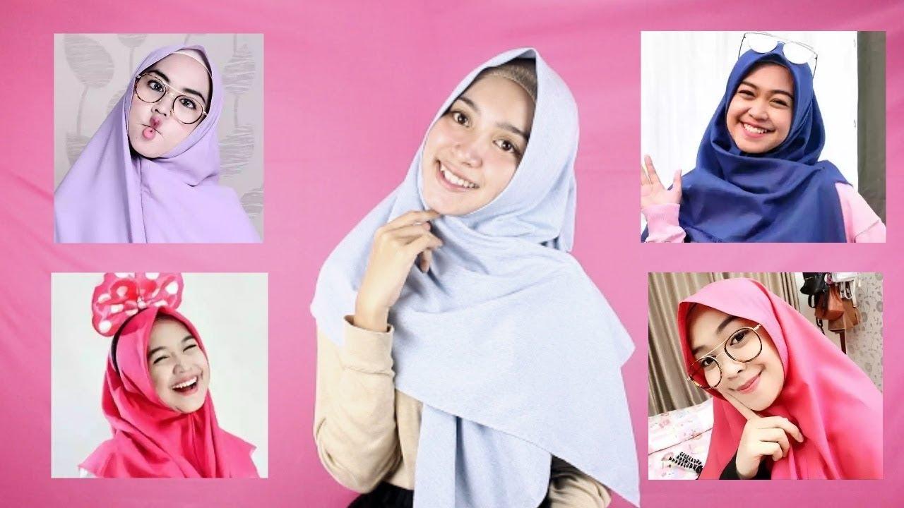 Tutorial Hijab Ala Ria Ricis Segi Empat 3 Styles Youtube