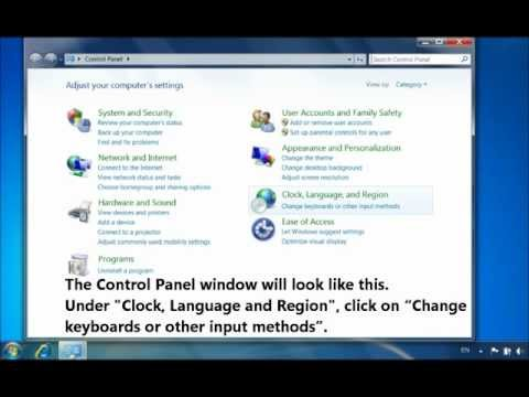 How To Install Spanish Or Any Other Language Keyboard In Windows 7, Vista, And XP.wmv