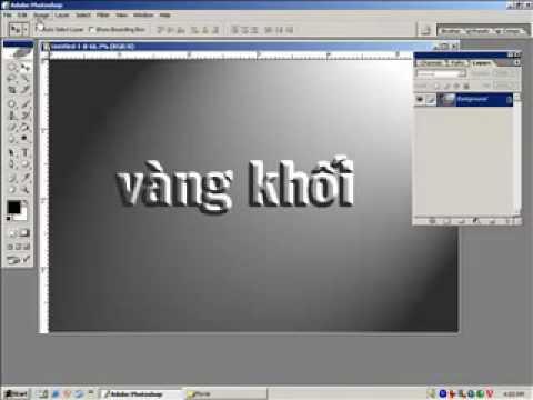 Lớp thiết kế album-Tạo chữ vàng khối http://HocPhotoshop.Com