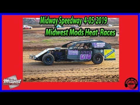 S3 E156 Midwest Mods Heat Races - 4-06-2019 Opening Night Midway Speedway #dirtTrackRacing