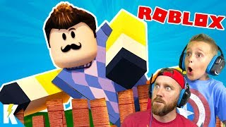 CRAZY Hello Neighbor Games in ROBLOX! K-City GAMING
