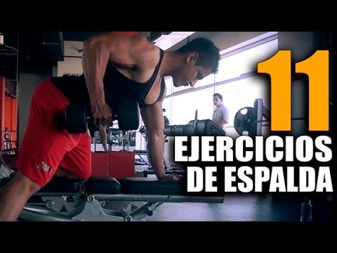 ejercicios de espalda con mancuernas youtube