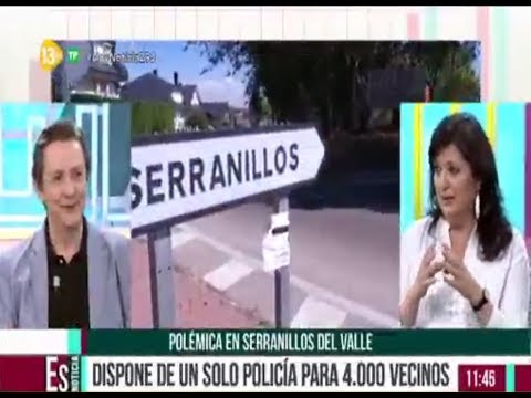 13TV. Entrevista a Paco Torres (CSIF) por falta de policías en Serranillos del Valle.