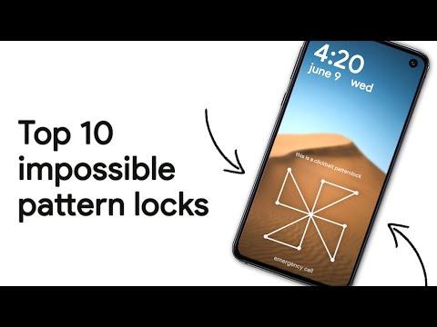 Top 10 Best/Impossible Pattern Locks! [2017]