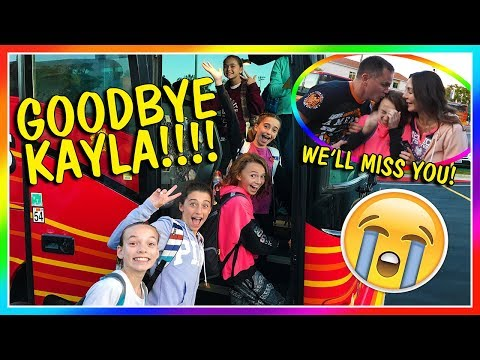 GOODBYE KAYLA! | We Are The Davises