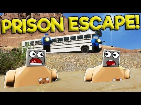 LEGO CITY FUGITIVE HUNT JAILBREAK!  Brick Rigs Roleplay Gameplay  Lego Police Jailbreak