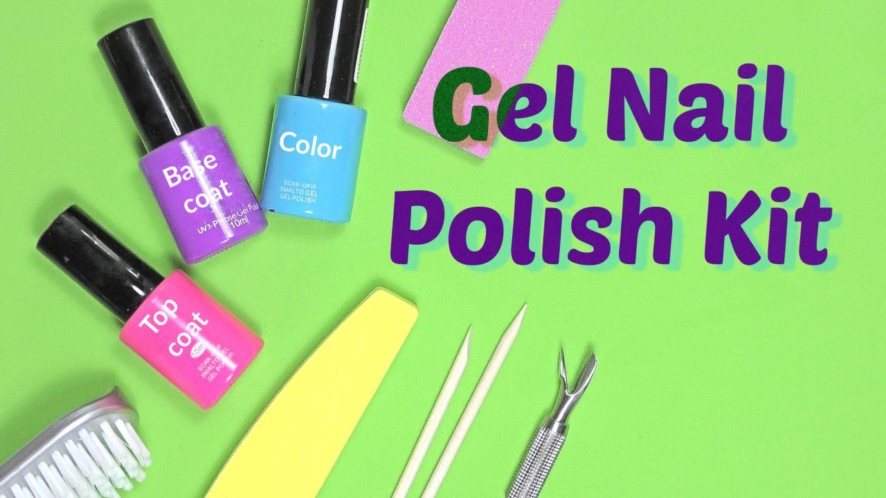 Gel Nail Polish Kit - Products you need for Gel Overlay at Home ...