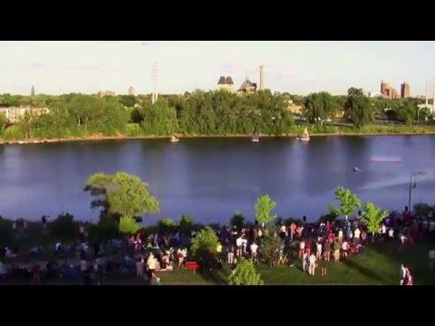 Mississippi River Boat Ballet @ 80x normal speed