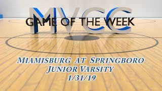 MVCC Game of the Week: Girls Miamisburg at Springboro JV