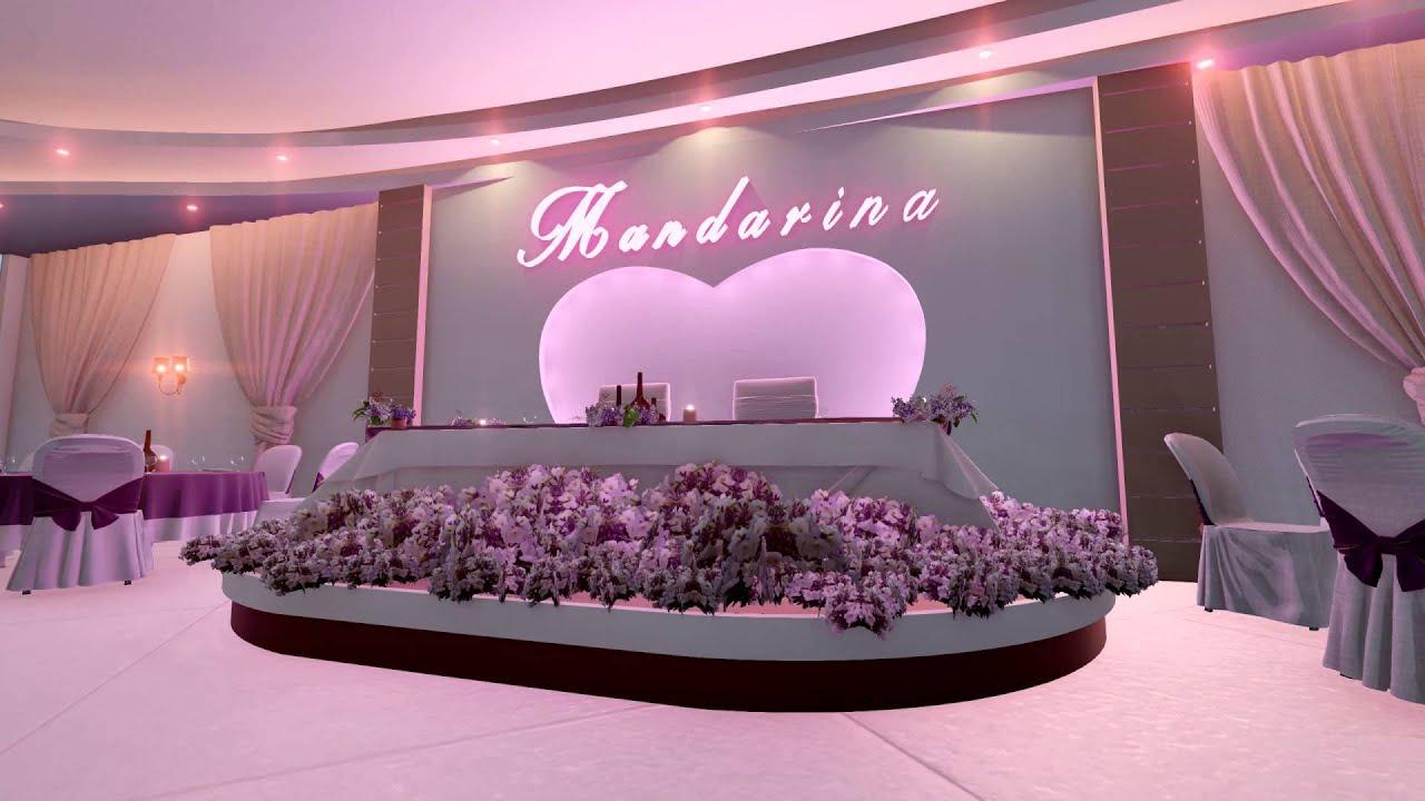 Mandarina wedding hall new design youtube for Marriage hall interior designs