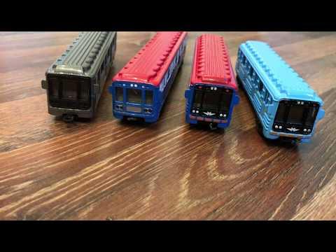 Новый вагон метро от Технопарк. Видео для детей.