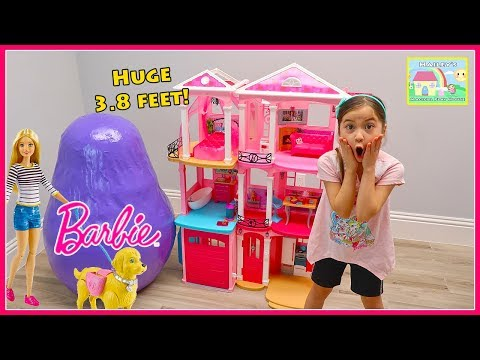 Biggest Barbie Egg Surprise Toys Opening & Pretend Play with Toy Dolls Surprises