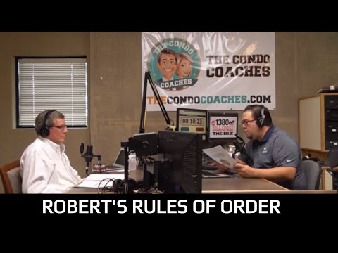 Robert's Rules of Order & Meeting Procedures - The Condo Coaches