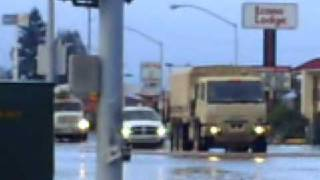 harrison ave flooded by skookumchuck river centralia wa usa