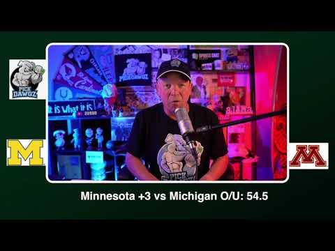 Minnesota vs Michigan Free College Football Picks and Predictions CFB Tips Saturday 10/24/20