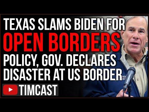 Texas Declares Migrant Crisis A DISASTER, SLAMS Biden Open Borders Policy, Democrats Escalate Crisis