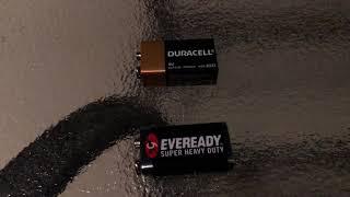 DURACELL VS. EVEREADY SUPER HEAVY DUTY 9 VOLT BATTERY COMPARISON REVIEW