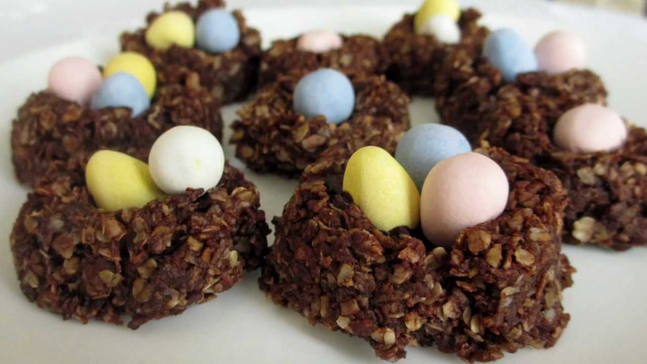 Chocolate Crispy Cake Nests