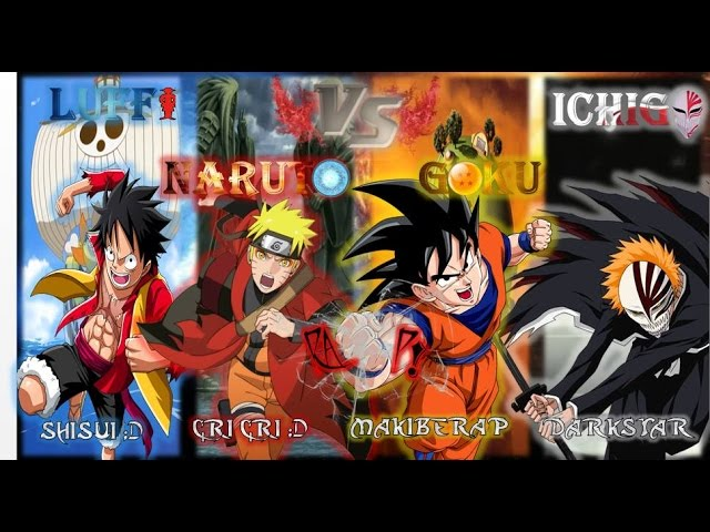 Naruto -vs- Ichigo -vs- Luffy -v