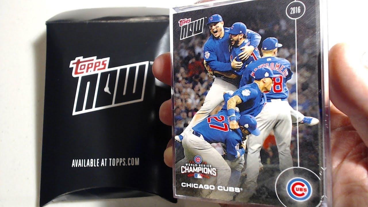 Chicago Cubs 2016 World Series Champions Baseball Cards By Topps Now