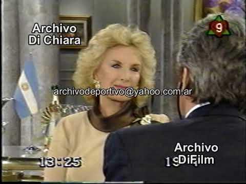 Alain Delon Con Mirtha Legrand 1995 DiFilm V-01807