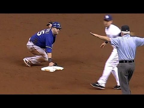 2011 ALDS Gm3: Rangers steal four bases vs. Rays