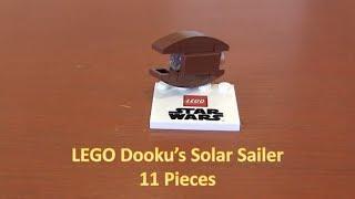 How To Build A LEGO Star Wars Mini Count Dooku Solar Sailer 11 Pieces
