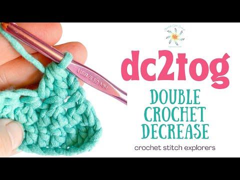 Double Crochet 2 Together (dc2tog) | Double Crochet Decrease | Crochet | Stitch Explorer Saturdays