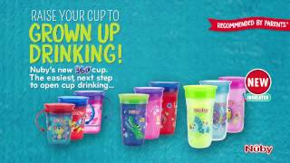 Nuby 360 Mini & Maxi No Spill Cups - The easiest next step to grown up drinking!