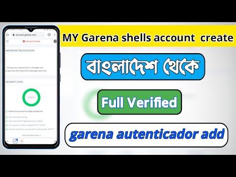 MY Garena Shells Account Create/বাংলাদেশ থেকে খুলুন/Full Verified/garena Autenticador Add/high.
