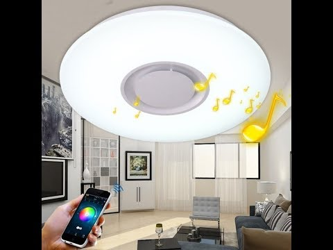 YUCHENG LED Ceiling Light 24W with Bluetooth Speaker and App