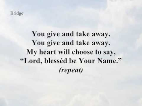 Blessed Be Your Name\